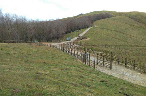 Construcción de mangas para ganado